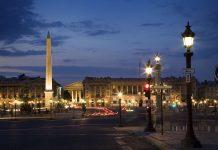 Place De La Concorde Night Streets And Lights