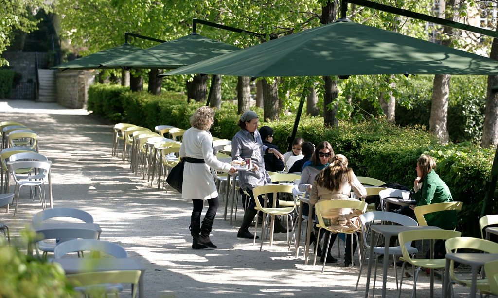 Cafe of Rodin Museum in Paris