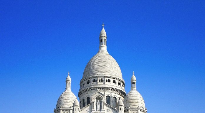 Basilique Du Sacré Coeur With Blue Sky