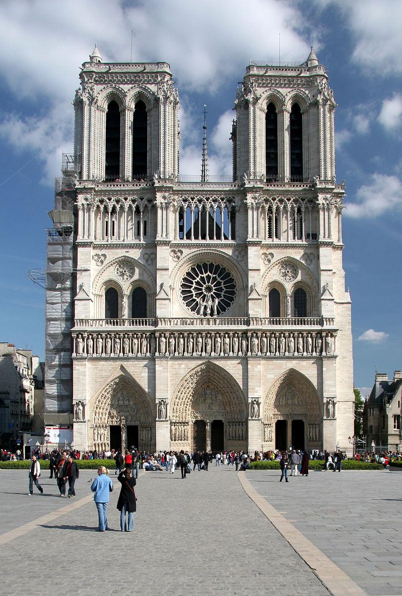 Notre Dame De Paris Sunny Day