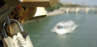 Love Locked on Pont des Arts in Paris