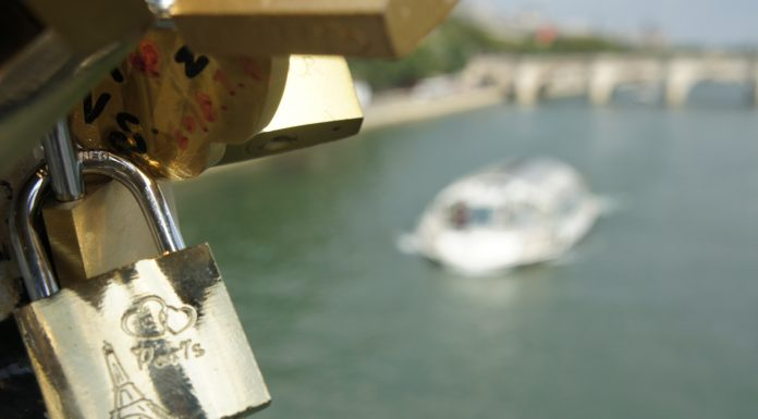 Love Locked on Pont des Arts in Paris