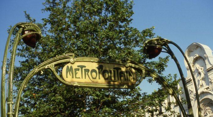 metro sign paris france